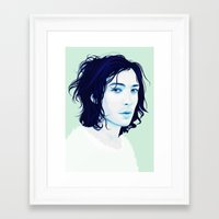 ezra koenig Framed Art Prints featuring Ezra Miller by Electra Sinclair