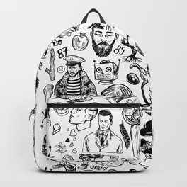 Things 2 - black and white Backpack