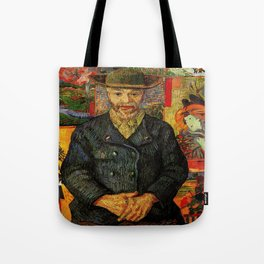 Van Gogh, Portrait of Père Tanguy  – Van Gogh,Vincent Van Gogh,impressionist,post-impressionism,brus Tote Bag