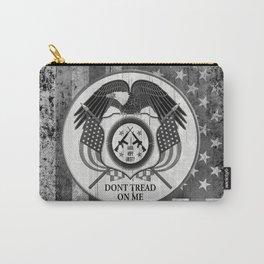 Faith Hope Liberty & Freedom Eagle on US flag Carry-All Pouch