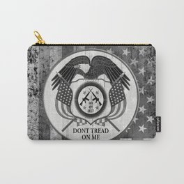 Faith Hope Liberty & Freedom Eagle on US flag Carry-All Pouch