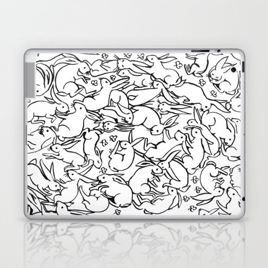 Bunny Pattern Laptop & iPad Skin