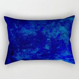 Blue Night- Abstract digital Art Rectangular Pillow