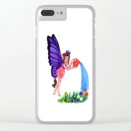 Fairy Watering Garden Clear iPhone Case
