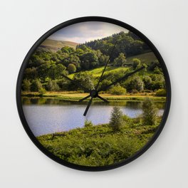 Private Fishing on Doly mynach Wall Clock