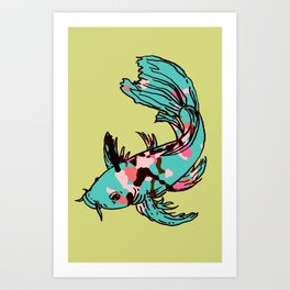 AriZona Butterfly Koi Art Print