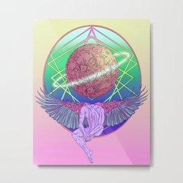 Moonhead Metal Print