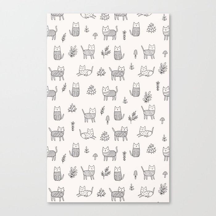 Doodle cats Canvas Print