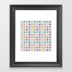 Dot Floral Framed Art Print
