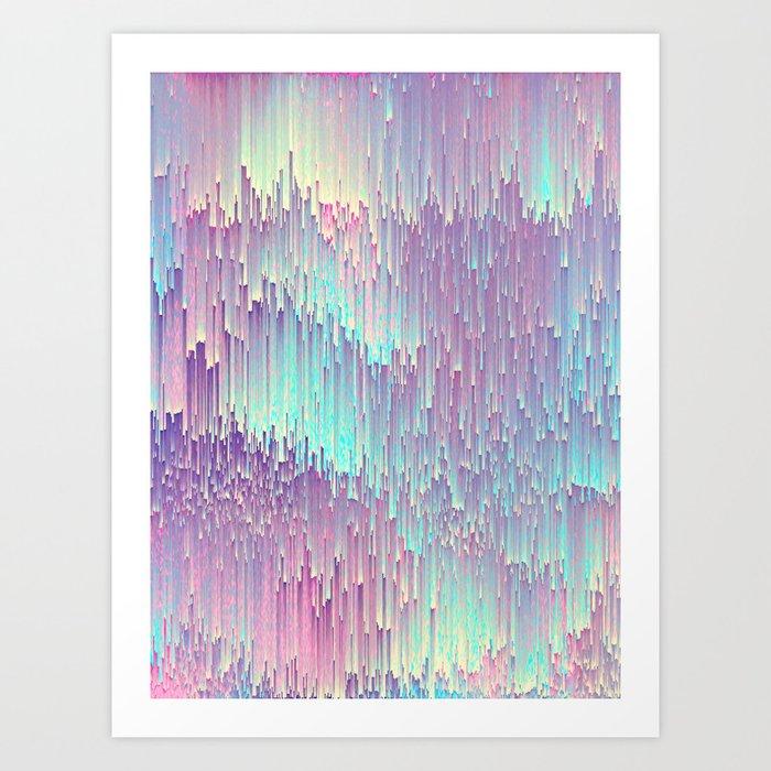 Iridescent Glitches Kunstdrucke