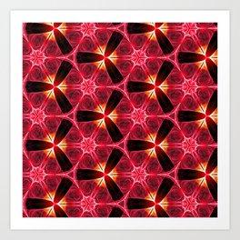 Chainlink Pattern (red) Art Print
