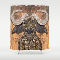african Shower Curtains featuring African Buffalo by ArtLovePassion