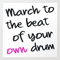 drum Art Prints featuring drum by Sharlene Tait