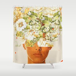 SuperFlowerHead Shower Curtain