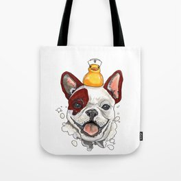 Friendship, Happy Frenchie, Little Ducky Tote Bag