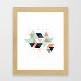 Midcentury geometric abstract nr 011 Framed Art Print