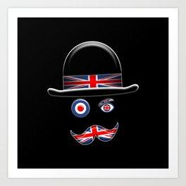British Flag Face. Art Print
