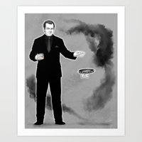 crowley Art Prints featuring Crowley by Alatherna