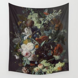 Jan van Huysum Still Life with Flowers and Fruit Wall Tapestry