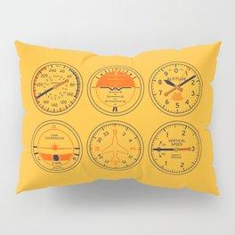 Aircraft Flight Instruments - Amber Pillow Sham