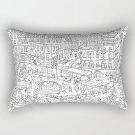 Budapest X Rectangular Pillow
