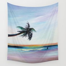 Be Back At Sunset Wall Tapestry