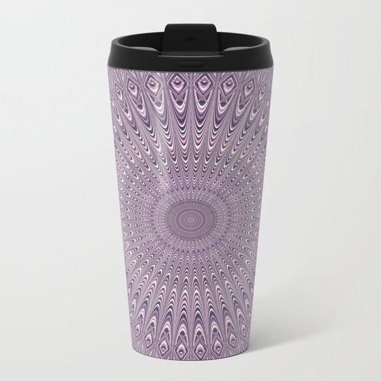 Pastel purple mandala Metal Travel Mug