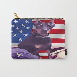 Patriotic USA Doberman Pinscher Carry-All Pouch