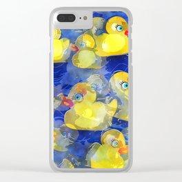 Rubber Ducks Clear iPhone Case