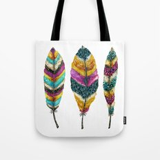 Midnight Feather Trio. Candy Colored Edition Tote Bag