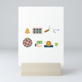 Cash, Chips, Cards & Roulette Nevada Day Mini Art Print