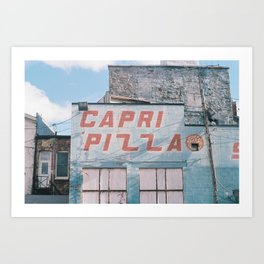 capri pizza sky Art Print