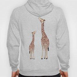 Cute Mama and Baby Giraffe Zoo Safari Design Hoody