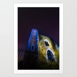 St Catherine's Hill and Chapel Art Print