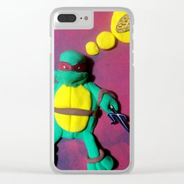 Red mask turtle Clear iPhone Case