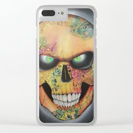 Mrs. skull Clear iPhone Case