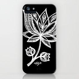White Flower 94 iPhone Case