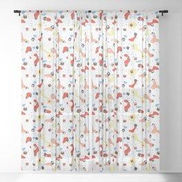 Polyhedral Dice- Pop Modern Sheer Curtain