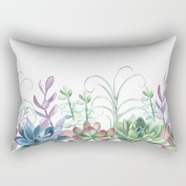 Succulents in The Garden Rectangular Pillow