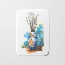 Vase painting Bath Mat