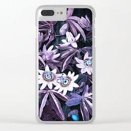 Temple of Flora UltraViolet Mauve Blue Clear iPhone Case