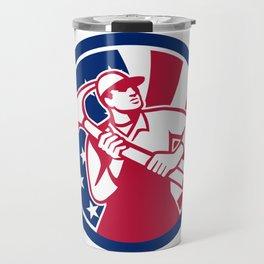 American Handyman USA Flag Icon Travel Mug