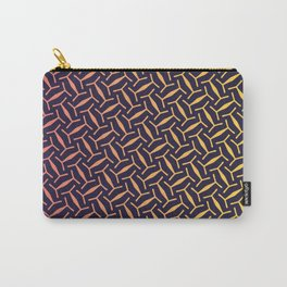 Pink & Yellow Texture Pattern Carry-All Pouch
