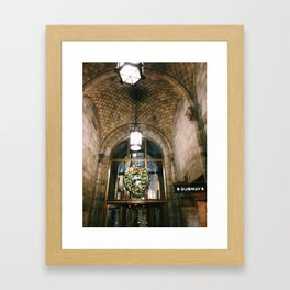 nyc grand central christmas arches photograph Framed Art Print