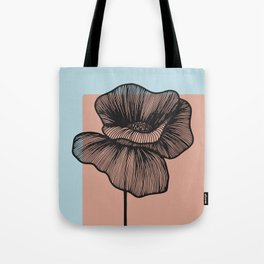 Black Poppy Tote Bag