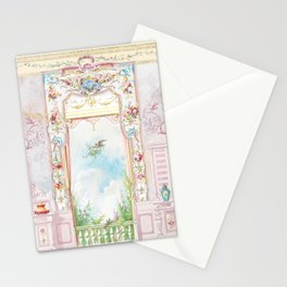 Rococo room with a garden view Stationery Cards