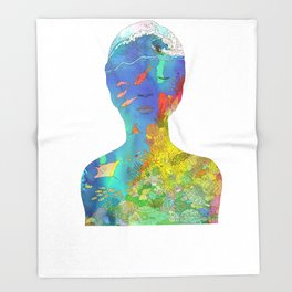 Ocean Thoughts Throw Blanket