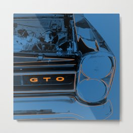 GTO Blue Metal Print