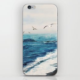 Watercolor Coast iPhone Skin