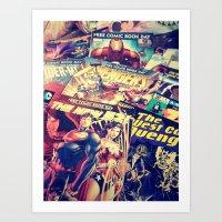 comics Art Prints featuring Comics by Miss-Lys